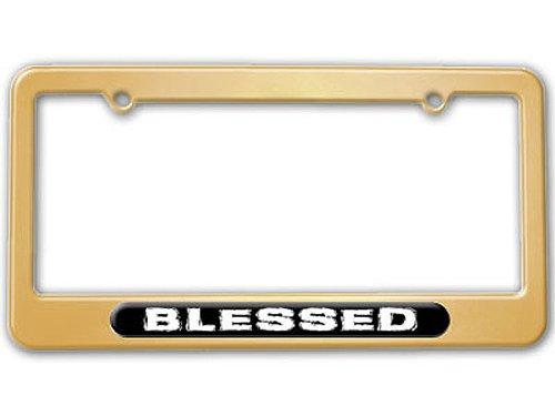 gold color license plate frame - 9