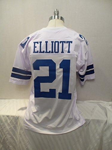 Ezekiel Elliott Un Signed White Throwback Jersey American Team