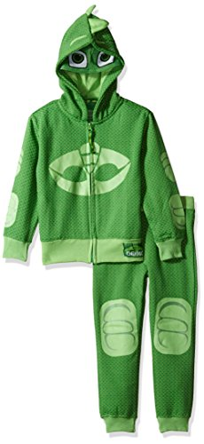 Gecko Costume (PJ MASKS Little Boys' Gecko Hoodie and Jogger Set, Green, 4)