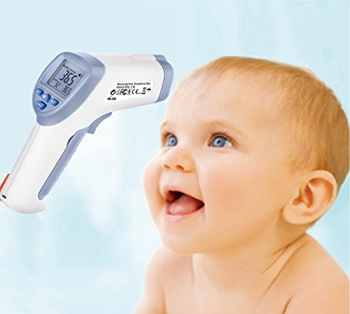 Digital Forehead Inrared Thermometer - No Touch Quick Reading Temperature Gun With LCD Display, Measures all types of Surface In Celsius & Fahrenheit - By BodyHealt by BodyHealt (Image #1)