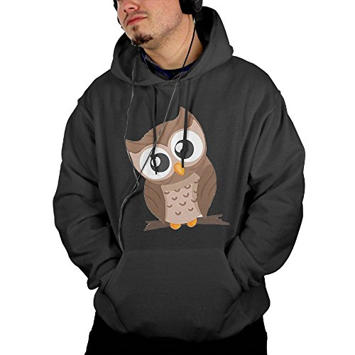 Beautiful Owl Men's Geek Long Sleeve Hoodie XL