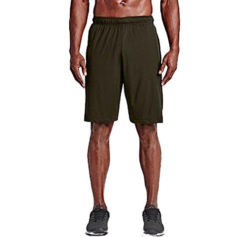 NIKE Men's Hyperspeed Knit Shorts (X-large, Cargo Khaki/Black/Tumbled Grey)