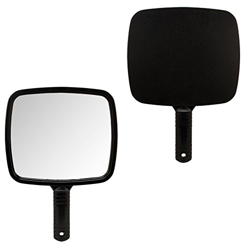 1 X BLACK Large TV Salon Barber Hand Cosmetic Makeup Hair Stylist Mirror 7 X 8