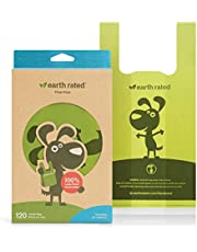 Earth Rated Poop Bags, Dog Waste Bags with Easy Tie Handles, Unscented, Completely Leak-Proof, Fits Standard Sized Cat Litter Scoops, 7 x 13.5 Inches, Easy Dispensing, 120 Bags