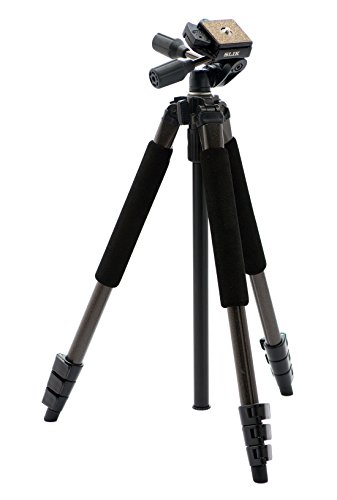 SLIK Sprint Pro II 4-Section Tripod w/ 3-Way Panhead - Gun Metal Finish ()