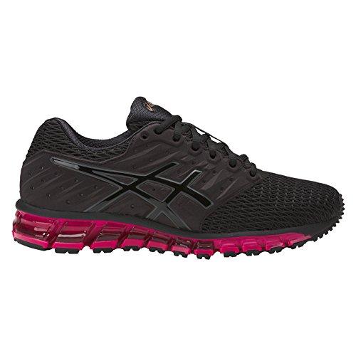 2 Ladies Running Shoes (ASICS Women's Gel-Quantum 180 2 Running Shoe, Black/Black/Cosmo Pink, 7.5 Medium US)