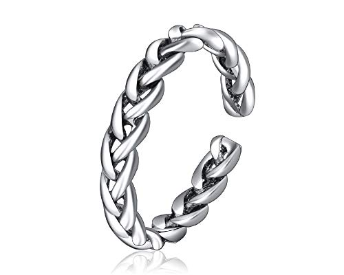 JOYID Braided Twisted Knot Open Ring Vintage Ethnic Style Adjustable Ring Index Finger Fewelry for Women (Style Index)
