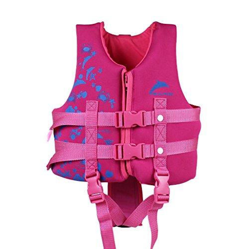 IvyH Life Jacket for Kids, Children Float Jacket Vest Learn to Swim Swim Vests for Girls Pink