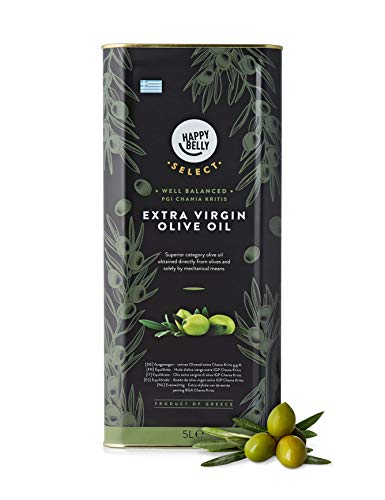 Amazon Brand – Happy Belly Select Greek Extra Virgin Olive Oil – 5L