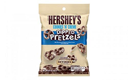 Hersheys Chocolate Pretzels - Hershey's Cookies 'n' Cream dipped Pretzels