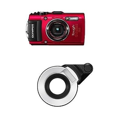 Olympus TG-4 16 MP Waterproof Digital Camera (Red) Underwater Bundle