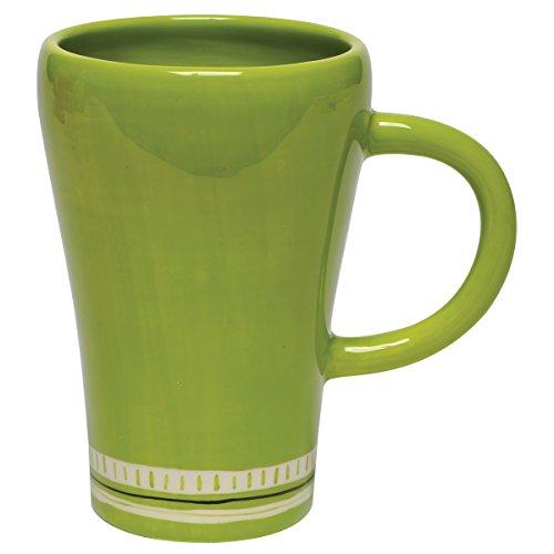 Thompson & Elm M. Bagwell Colors Ceramic Mugs (Set of 4), Lime Green