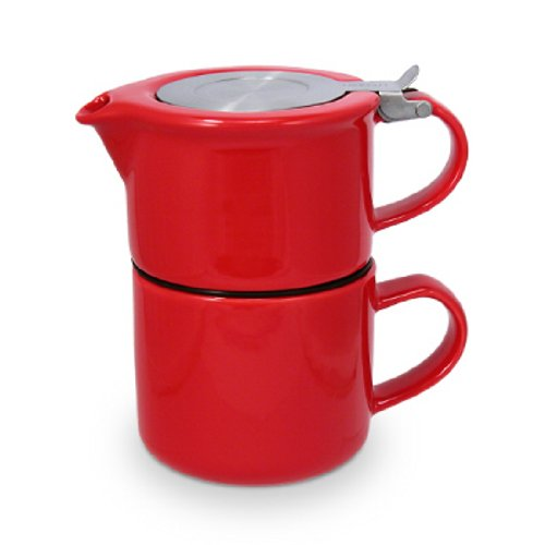 Forlife 14oz Red Tea for One with Strainer Teapot 347-RED
