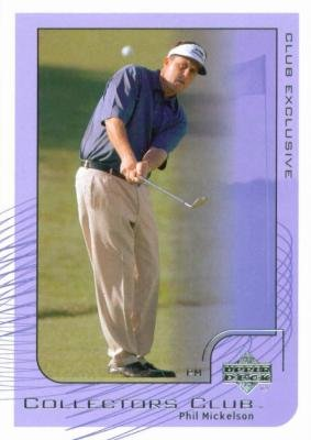 Autographed Golf Trading Card (Phil Mickelson trading card (Golf) 2002 Upper Deck Collectors Club Exclusive)