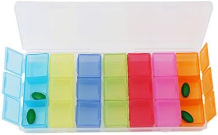 canvivi Pastillero 7 días Multicolor Pastillero Medicamentos Caja ...
