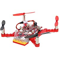 Goolsky 2.4G 4CH 6-Axis Gyro Mini DIY Building Block Drone RC Quadcopter Children Gift Toy