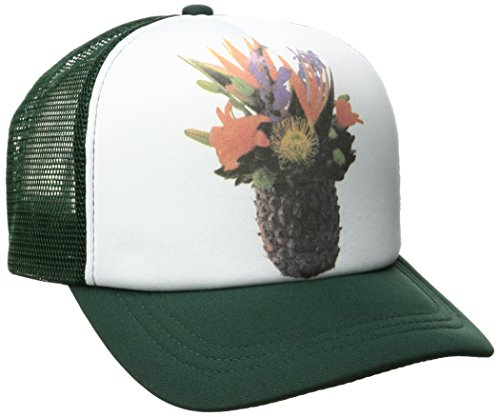 O'Neill Juniors Tropics Trucker Hat, Green/Green, One Size - Oneill Mesh Hat
