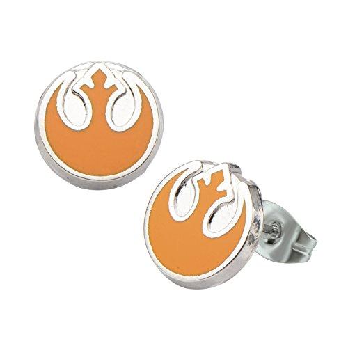 Star Wars Rebel Alliance Symbol Stud Earrings by Body Vibe (Rebel Alliance Star Wars)