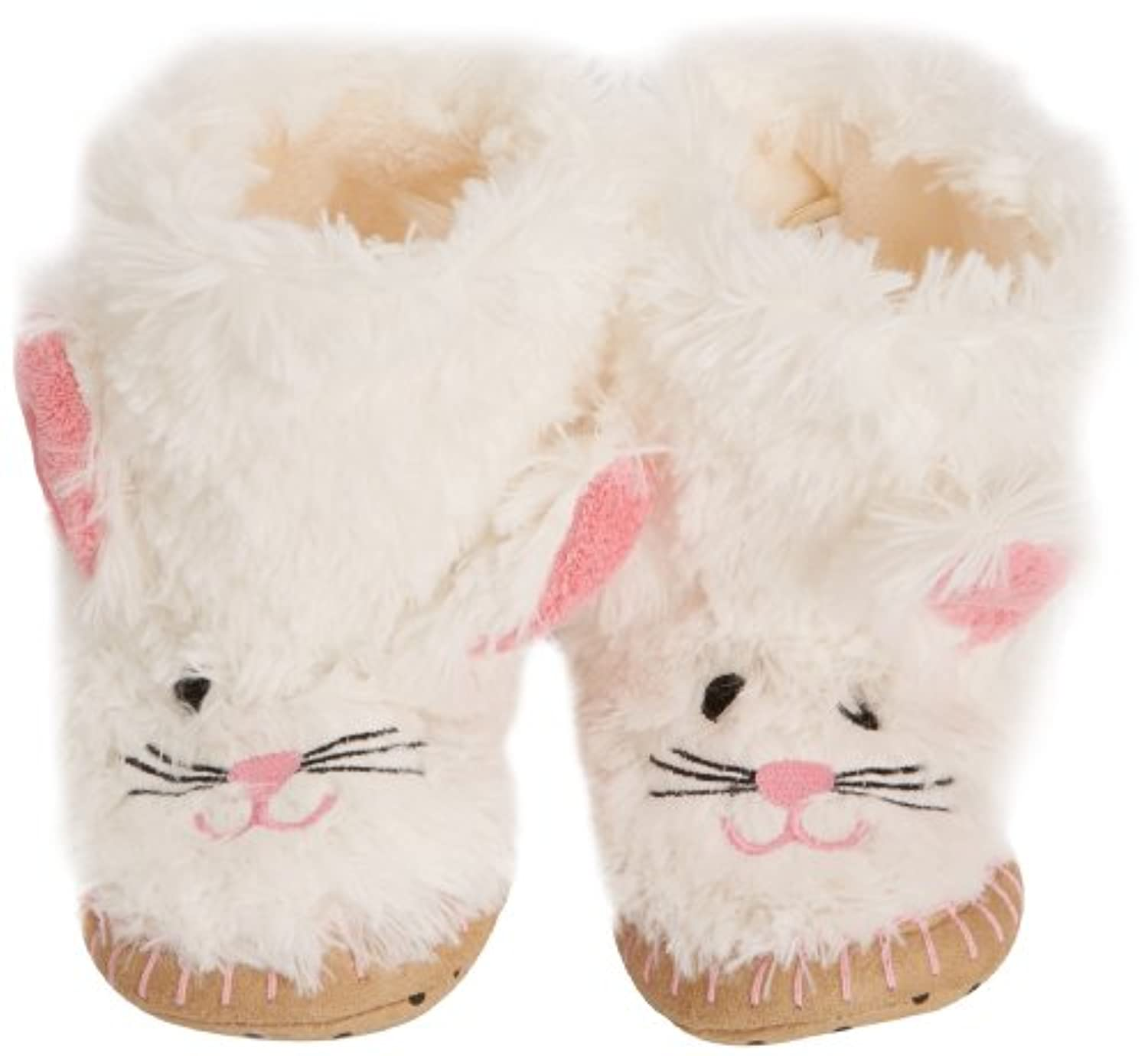 Hatley Slouch - Bunny, Girls' Hi-Top Slippers, White (White), M Child UK (27/28 EU)
