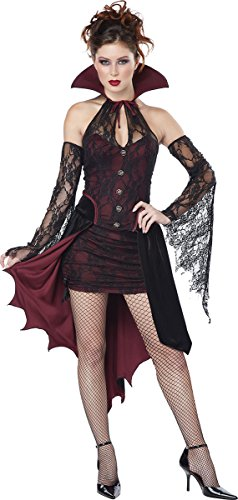 Sexy Vampire Costumes For Women (California Costumes Women's Vampire Vixen Costume, Burgundy/Black, Medium)