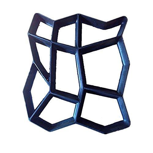 Pixnor Molde plástico 42,5 x 42,5 cm Pathmate concreto peldaño molde aleatoria jardín, césped, suministro, mantenimiento: Amazon.es: Bricolaje y ...
