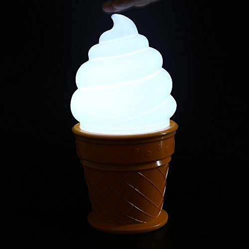 [Tuk789 VIP Novelty Ice Cream Retro 1980's Style Lamp Led attractive Night Light for Children kids Cone Shaped Desk Table LED Lamp Bedroom Decor] (Trailer Trash Outfits)