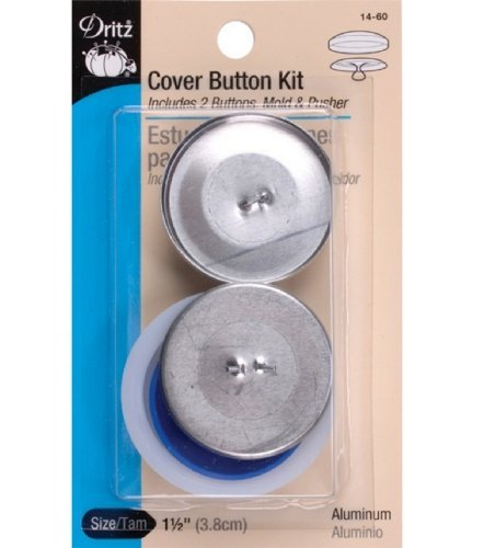 Dritz 14-60 Cover Button Kit with Tools, Size 60 - 1-1/2-Inch, 2-Piece