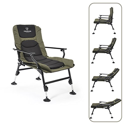 Outdoor Folding Chairs with Adjustable Legs for Fishing Camping Beach Garden Tackle