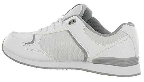 DEK JACK Mens Lace Up Bowling Shoes/Trainers White/Grey White /Grey bFPKTb6