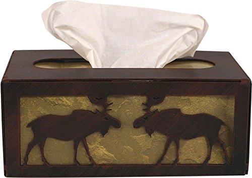 - Iron Moose Rectangular Tissue Box Cover