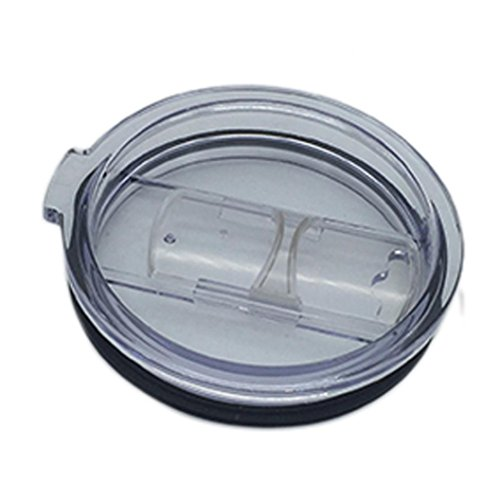 Mchoice Spill And Splash Resistant Lid With Slider Closure for 20 Oz (Clear)