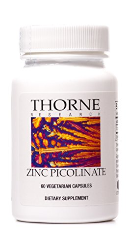 Thorne Research - Zinc Picolinate - Highly Absorbable Zinc Supplement - 60 Capsules