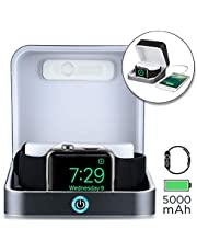 Sumato WatchBox Charging Case for Apple Watch 5 4 3 2 1 [Travel Battery Charger] MFI Certified 5000mAh Power Bank, Charges iWatch & iPhone