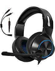 ARKARTECH Gaming Headset for Xbox One, PS4, PS5, PC, Controller, Noise Cancelling Over Ear Headphones with Mic, Bass Surround Soft Memory Earmuffs for Computer Laptop Switch Games
