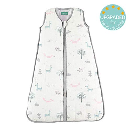 "molis&co Sleeping Bag Baby, 2.5 TOG,Super Soft and Warm Muslin Wearable Blanket for Baby,12-18 Months. 35.4"". Ideal for Winter.Unisex Forest"