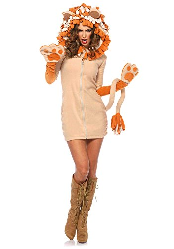 Cozy Costumes (Leg Avenue Women's Cozy Lion Costume, Brown, Medium)