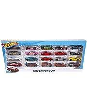 Hot Wheels - Pack de 20 vehiculos, coches de juguete (modelos surtidos) (Mattel H7045)