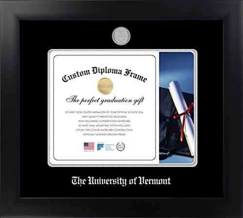The University of Vermont® 10 x 13 Matte Black Finish Infinity Diploma Frame by Celebration Frames