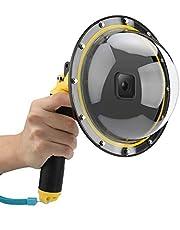 "AFAITH Dome Port GoPro camera-accessoires, onderwater 6""GoPro Dome Port beschermhoes met waterdichte hoes Case Drijvende Bobber Handgreep Trigger voor GoPro Hero2018 Hero6 Hero5 Zwart Hero7 Zwart"