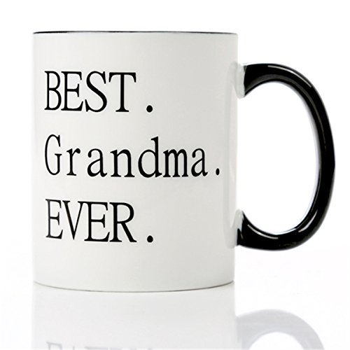 Best Grandma Ever -11 OZ Ceramic Coffee Mugs- Christmas Thanksgiving Birthday Gifts For Grandmother From Granddaughter Grandson Think You Gifts Ideas