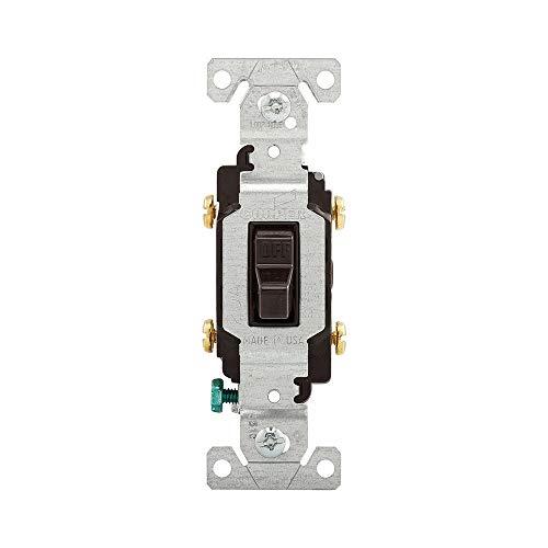 EATON CS220B Arrow Hart Eagle Cs Lighted Toggle Switch, 120/277 Vac, 20 A, 2 P, Brown
