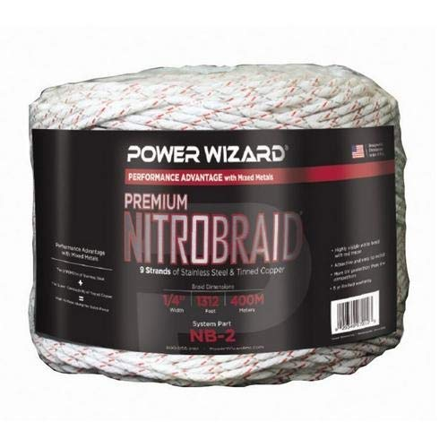 Power Wizard NB-2, Nitro Braid 1/4'' 9 Strand, 1312 Ft/400 M Red Tracer, Pack of 2 pcs by Power Wizard (Image #1)