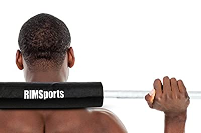 RIMSports Fitness Squat Bar Barbell Pad for Squats, Lunges, and Hip Thrusts - Best Padding Sponge Pads for Hip Thruster - Provides Relief to Neck and Shoulders While Training