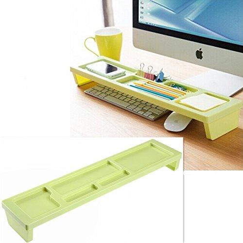 Büro Organizer Schreibtisch Sortierkasten Aufbewahrungsbox für Tastatur mit KEINEM MERKWUERDIGEM GERUCH (Gruen)