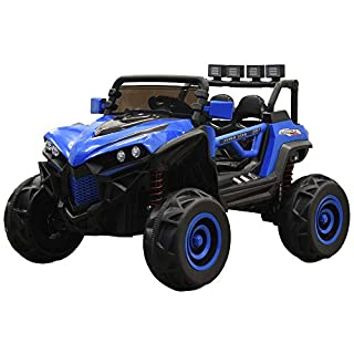 Massimo Mini UTV 4x4 | 12V Ride On | Remote Control | MP3 Player | Kid's Children's Youth | On Road Off Road | Indoor Outdoor (Blue)