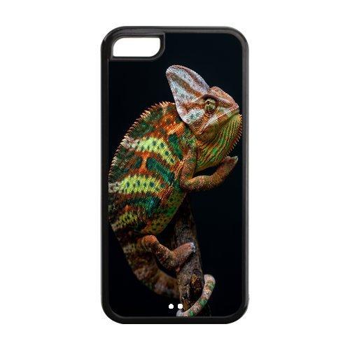 Custom Chameleon,Lizard Design Rubber TPU Case for Iphone 5C by supermalls