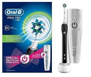 Oral-B PRO 750 CrossAction Cepillo de Dientes Eléctrico Recargable Pack Regalo