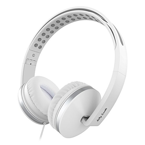 On Ear Headphones with Mic, Jelly Comb Foldable Corded Headphones Wired Headsets...