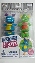 Scribble Stuff Pencil Stackers Erasers - Mix, Match & Stack - Swamp Monsters