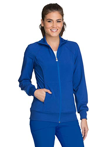 Cherokee Women's Infinity Zip Front Warm-Up Jacket, Royal, Large